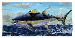 Yellowfin Crash Off0081 Beach Towel