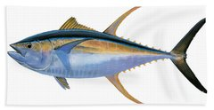 Yellowfin Tuna Beach Towel