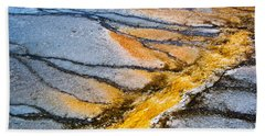 Yellowstone Nature Abstract Beach Towel