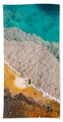 Yellowstone Abstract Beach Sheet by Sue Smith