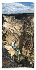 Yellowstone Canyon Beach Towel by Laurel Powell