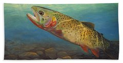 Yellowstone Cut Takes A Salmon Fly Beach Towel