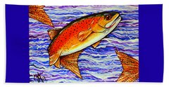 Yellowstone Cutthroat Beach Towel by Jackie Carpenter