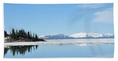 Yellowstone Lake In The Spring Beach Towel