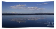 Beach Towel featuring the photograph Yellowstone Lake Reflections by J L Woody Wooden