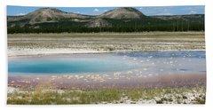 Yellowstone Landscape Beach Sheet by Laurel Powell