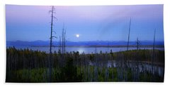 Yellowstone Moon Beach Towel