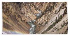 Yellowstone National Park Montana  3 Panel Composite Beach Towel