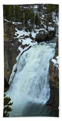 Yellowstone Upper Falls In Spring Beach Towel by Michele Myers