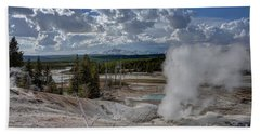 Beach Towel featuring the photograph Yellowstone's Norris Geyser Basin by Bill Gabbert