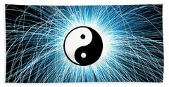 Beach Towel featuring the photograph Yin Yang by Tim Gainey