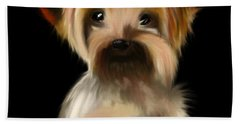 Yorkshire Terrier Pup Beach Towel