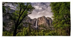 Yosemite Falls Beach Towel by Cat Connor