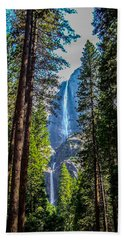 Beach Towel featuring the photograph Yosemite Falls by Dany Lison