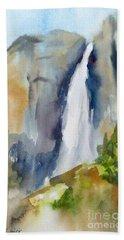 Yosemite Falls Springtime Beach Towel