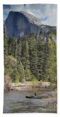 Yosemite National Park. Half Dome Beach Sheet by Juli Scalzi