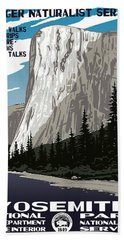 Yosemite National Park Vintage Poster 2 Beach Sheet
