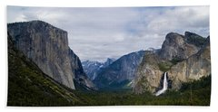 Yosemite Valley Panoramic Beach Sheet by Bill Gallagher