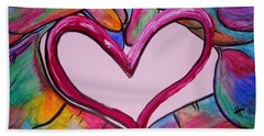 You Hold My Heart In Your Hands Beach Towel