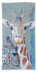Young Giraffes Beach Towel
