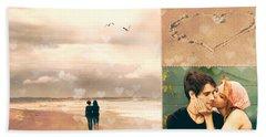 Young Love Beach Towel by Linda Lees