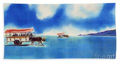 Yubu Island-water Buffalo Taxi  Beach Towel