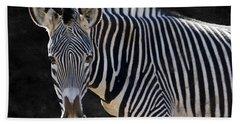 Z Is For Zebra Beach Towel