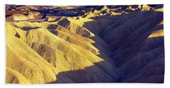 Beach Towel featuring the photograph Zabriski Point #2 by Stuart Litoff