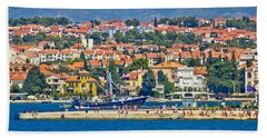 Zadar Waterfront Sea Organs View Beach Sheet by Brch Photography