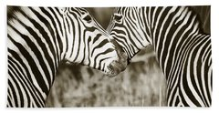 Zebra Affection Beach Towel