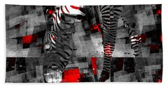 Zebra Art - 56a Beach Towel by Variance Collections