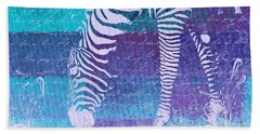 Zebra Art - Bp02t01 Beach Towel by Variance Collections