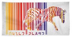 Zebra Barcode Beach Towel