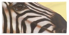 Beach Sheet featuring the painting Zebra by Darren Robinson