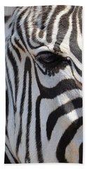 Zebra Eye Abstract Beach Towel