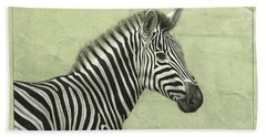 Zebra Beach Towel by James W Johnson