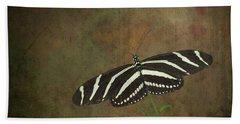 Zebra Longwing  Butterfly-1 Beach Sheet