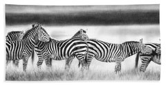 Zebra Panarama Beach Sheet