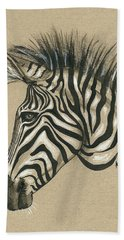Zebra Profile Beach Towel