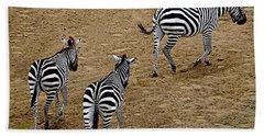 Zebra Tails Beach Towel