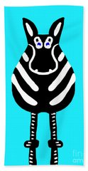 Zebra - The Front View Beach Towel