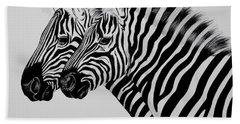 Zebra Twins Beach Sheet