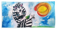 Zebra Zee  Beach Towel