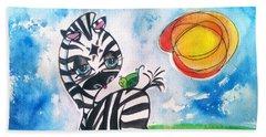 Zebra Zee  Beach Sheet
