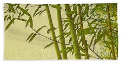 Zen Bamboo Abstract I Beach Sheet by Marianne Campolongo