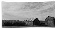 Zink Rd Farm 2 In Black And White Beach Sheet