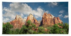 Beach Towel featuring the photograph Zion Court Of The Patriarchs by Tammy Wetzel