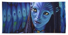 Zoe Saldana As Neytiri In Avatar Beach Towel