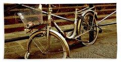 Bicycle Breakdown Beach Sheet