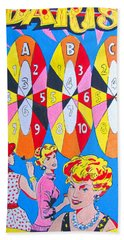 Girl Darts Beach Towel